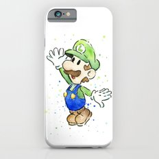 Luigi Watercolor Mario Nintendo Art Slim Case iPhone 6