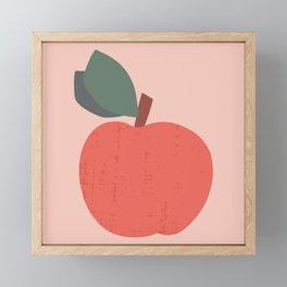 Red Apple Framed Mini Art Print