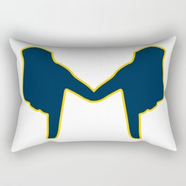 Michigan Hands Rectangular Pillow