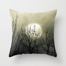 Winter Into Spring Throw Pillow