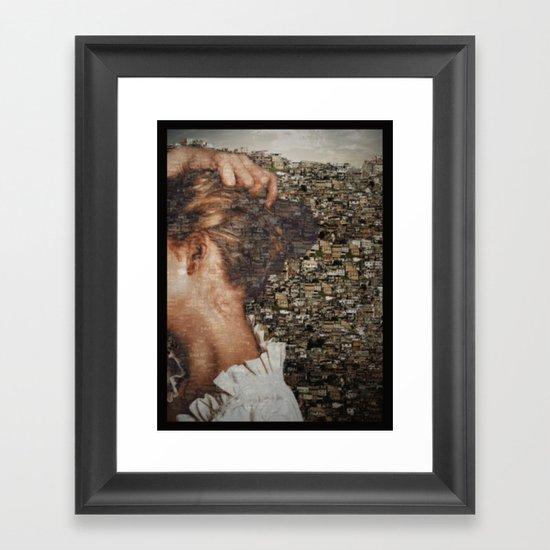 SHE IS LOST. Framed Art Print