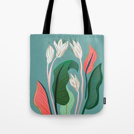 Exotic Dream Flower Tote Bag