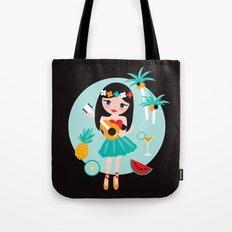 Hawaii summer hula girl Tote Bag