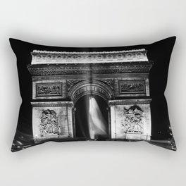 Retro France Paris Triumphal arch 1970 Rectangular Pillow