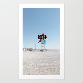 Roy's Motel & Cafe Retro Sign Art Print