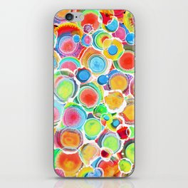 Sunshine on Your Spotty Mind (Alcohol Inks Series 07) iPhone Skin