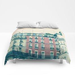 Paris Pink Facades Comforters