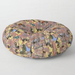 Pointillism Critters Floor Pillow