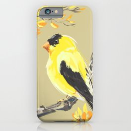 Yellow Finch iPhone Case