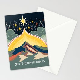 Open to miracles Stationery Cards