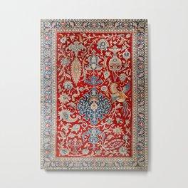 Turkey Hereke Old Century Authentic Colorful Royal Red Blue Blues Vintage Patterns Metal Print