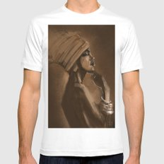 Afro Beauty Mens Fitted Tee White MEDIUM
