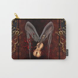 Violin with bow and clef Carry-All Pouch