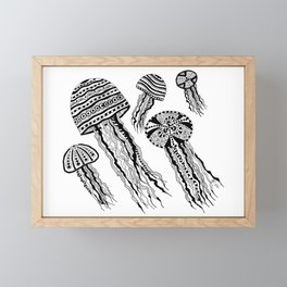 Floating Around BW Framed Mini Art Print
