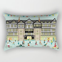 Art Print of Liberty of London Store - Daytime Rectangular Pillow