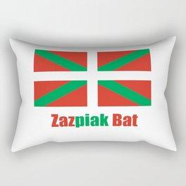 Flag of Euskal Herria 6 -Basque,Pays basque,Vasconia,pais vasco,Bayonne,Dax,Navarre,Bilbao,Pelote,sp Rectangular Pillow
