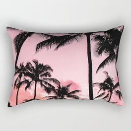 Tropical Trees Silhouette Rectangular Pillow