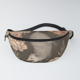 The Opossum and Peonies Fanny Pack