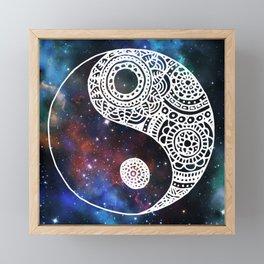 Galaxy Yin Yang Framed Mini Art Print