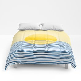 Minimal Summer Sunset Comforters