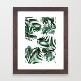 Tropical Palm Leaf Framed Art Print