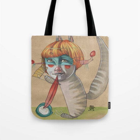 CAT CLOWN Tote Bag