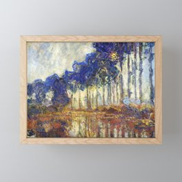 Poplars on the Bank of the Epte River by Claude Monet Framed Mini Art Print