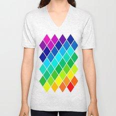 Tetrahedral Rainbow Unisex V-Neck
