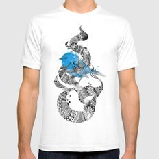Tweet Your Art. White MEDIUM Mens Fitted Tee