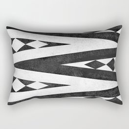 Tribal pattern in black and white. Rectangular Pillow