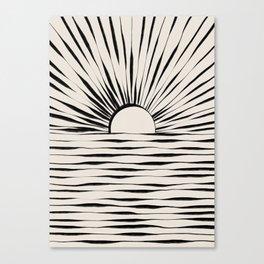 Minimal Sunrise / Sunset Canvas Print