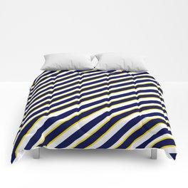 TEAM COLORS 1…Navy , yellow , white Comforters