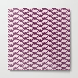 Armadillos All Around Purple Metal Print