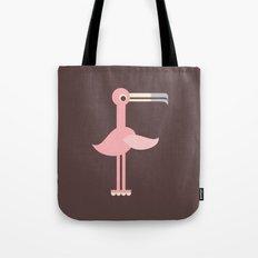 Letter F // Animal Alphabet // Flamingo Tote Bag