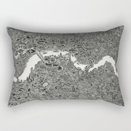London map print Rectangular Pillow