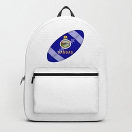 Kansas State USA Football Flag Backpack