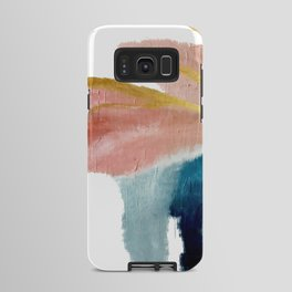 Exhale: a pretty, minimal, acrylic piece in pinks, blues, and gold Android Case