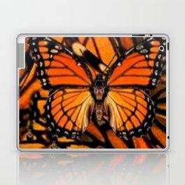 ORANGE MONARCH BUTTERFLY PATTERNED ARTWORK Laptop & iPad Skin