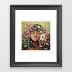 Desert Woman Framed Art Print