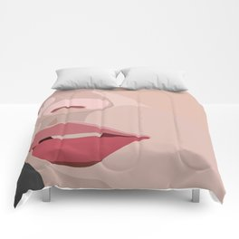 up close lips Comforters