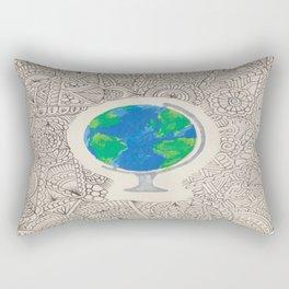 globe zentangle Rectangular Pillow