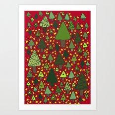 Small Trees Art Print