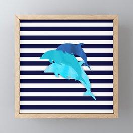 Dolphins Framed Mini Art Print
