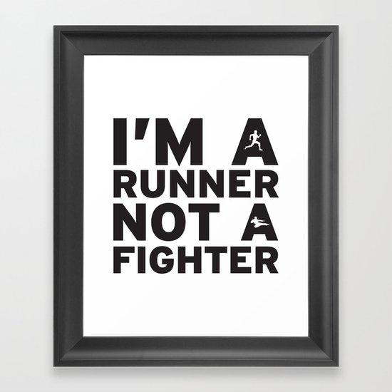 i'm a runner Framed Art Print