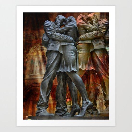 Kiss me goodbuy! Art Print