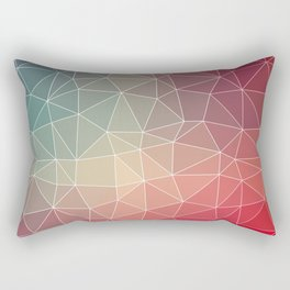 Abstract Geometric Triangulated Design Rectangular Pillow