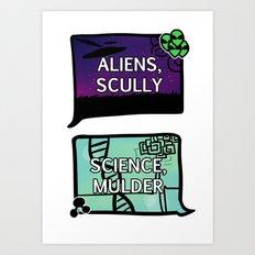 Aliens, Scully Art Print