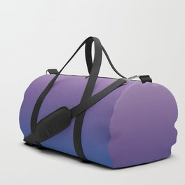Ultra Violet Blue Lilac Ombre Gradient Pattern Duffle Bag