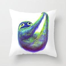 Sloth Hammock Throw Pillow