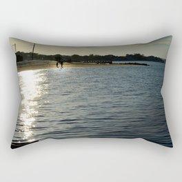 Bay Front Walk Rectangular Pillow